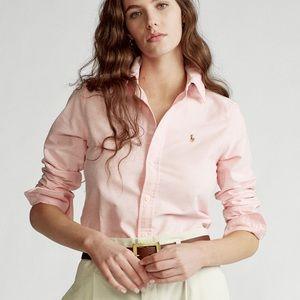 Ralph Lauren slim fit sz 6 pink button-down shirt